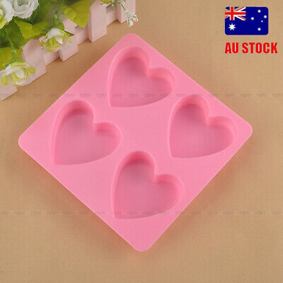 Silicon Heart Shape Chocolate Mould Tray Ice Cube Cake Decor Jelly Bakeware Mold