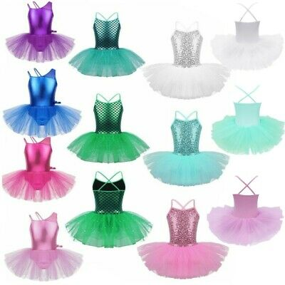 23c93c738 KIDS GIRLS BALLET Dance Leotard Tutu Dress Gymnastics Mermaid Dancewear  Costume