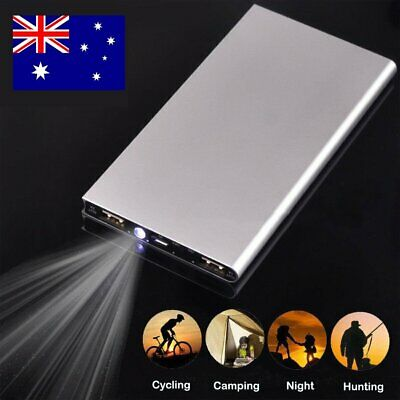 UK 100000mAh Ultra Thin Quick Charger External Backup Battery Mobile Power Bank