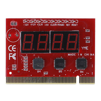 1Pc motherboard led 4-digit diagnostic test PC analyzer network repair tool  O