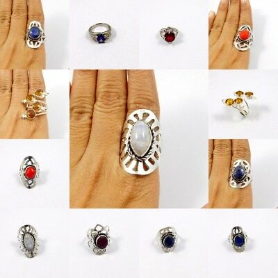 Multi Stone .925 Silver Plated Free Shipping Ring Jewelry JC7858-JC7925