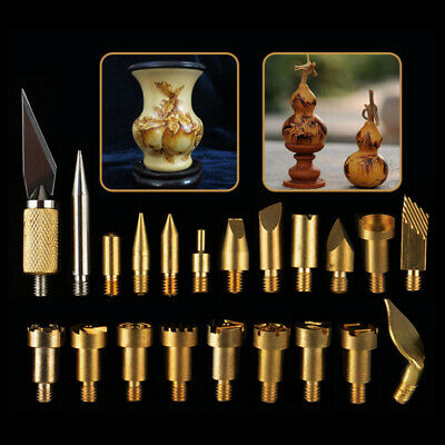 22pcs Soldering Iron Tip Pen Tips Stencil Pyrography Woodworking Carving Tool HC