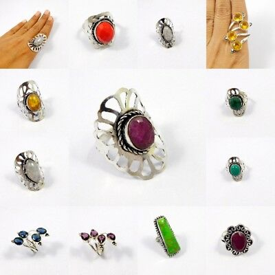 Multi Stone .925 Silver Plated Free Shipping Ring Jewelry JC7765-JC7798