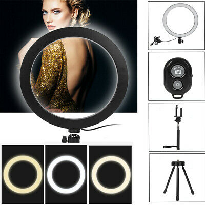26cm Dimmable LED Selfie Ring Light with stand kit for Makeup Youtube Live Photo