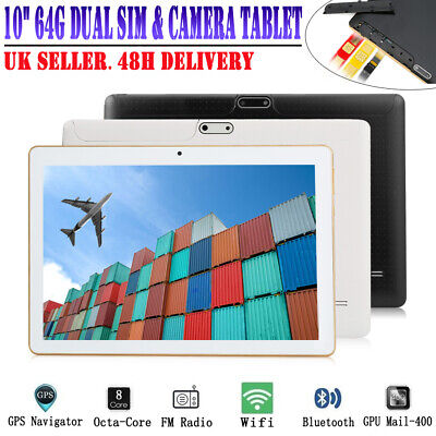 "10.1"" Inch Android 6.0 Tablet Pc 4G+64G Octa-Core  Phablet 2 Sim Slots  Wifi Gps"