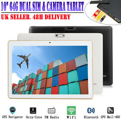 """10.1"""" Inch Tablet Pc Android 4G+64G Octa-Core 6.0  Phablet 2 Sim Slots  Wifi Gps"""