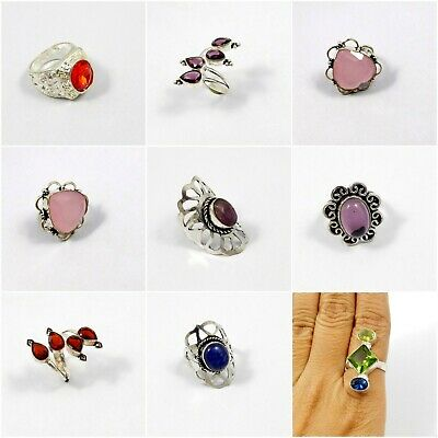 Multi Stone .925 Silver Plated Free Shipping Rings Jewelry JC7926-JC7977