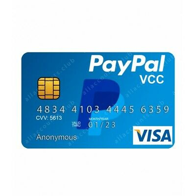 Paypal Full Verification 100% VCC Virtual Visa Card For All Regions!
