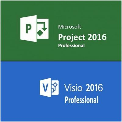 Microsoft Visio&Project 2016 Pro pack ✔Lifetime ✔32/64 Bit-3 Minute Versand