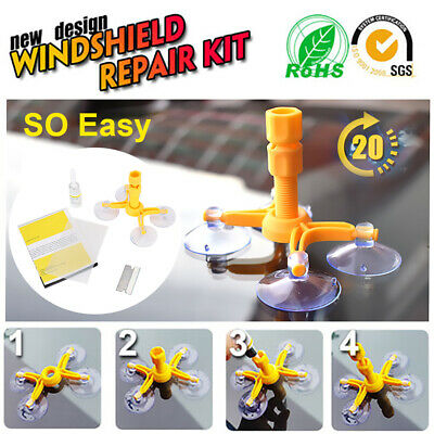 Repair Glass Chip Crack Tool DIY Car Windscreen Windshield Wind Screen Kit care