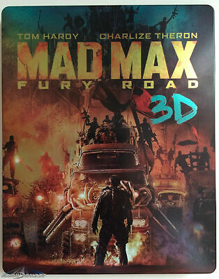 Mad Max Fury Road Steelbook Blu Ray 3D + Blu Ray + Dvd -  Comme Neuf