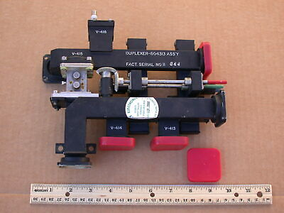 Vintage WR-90 waveguide duplexer (mixer) 6-port with two t-r tubes