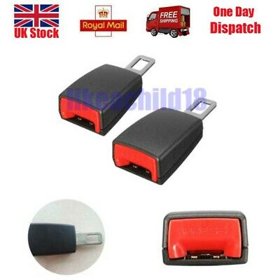 A Pair Universal Car Safety Seat Belt Extender Extension Buckle Lock Clip New UK