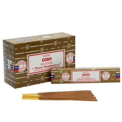 Genuine Satya Oodh Perfume Incense Agarbatti Sticks Hand Made In India 15g