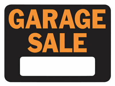 Hy-Ko  English  Garage Sale  Sign  Plastic  9 In. H X 12 In. W Pack Of 10