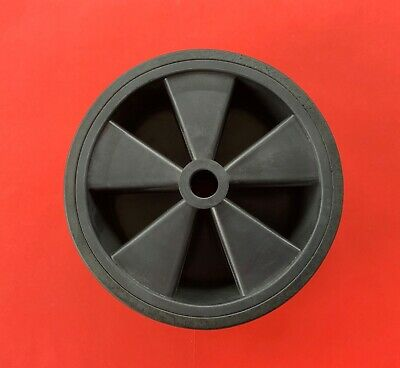 1 x Replacement 210mm Black Plastic Wheel for Jockey Wheel Van/Trailer/Caravan