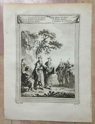 Peru Quito Women & Men (1750) Nicolas Bellin Antique Engraved View 18Th Century