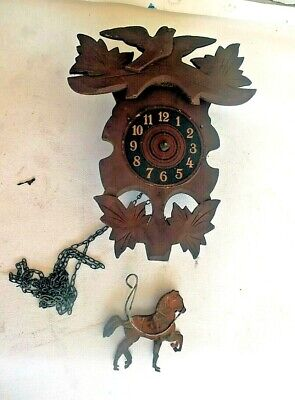 Antique Black Forest cuckoo clock for parts #4