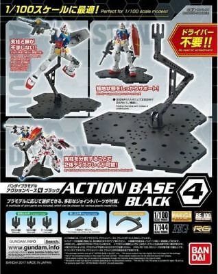 Bandai Gundam Action Base 4 Black Stand for MG /1/100 or 1/144 scale  models