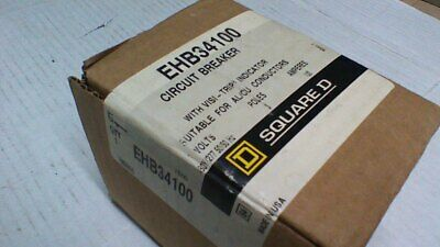 (Nib)  Square D  Ehb34100  Three Pole 100 Amp 480Vac Bolt-In Circuit Breaker
