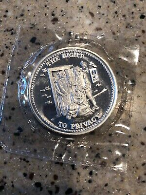 Johnson Matthey The Right to Privacy 1 oz 999 Fine Silver Round