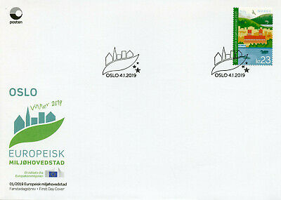 Norway 2019 FDC Oslo European Green Capital 1v S/A Cover Tourism Birds Stamps