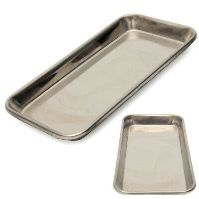 Stainless Steel Dental Lab Tray Medical Surgical Dish Instrument Rectangle Tools