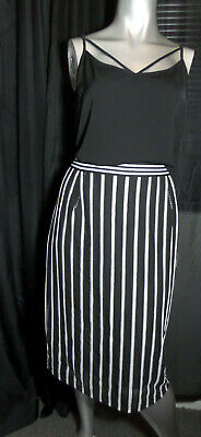 City Chic plus size L-20 black top(new) and striped skirt-pre loved