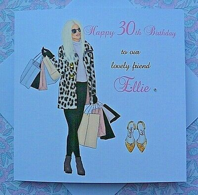Personalised Handmade Birthday Card  18th 21st 30th 40th Daughter Niece Friend