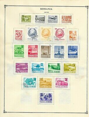 ROMANIA 1967, Used Stamps on Scott pages. (6 scans) (60+ Stamps)