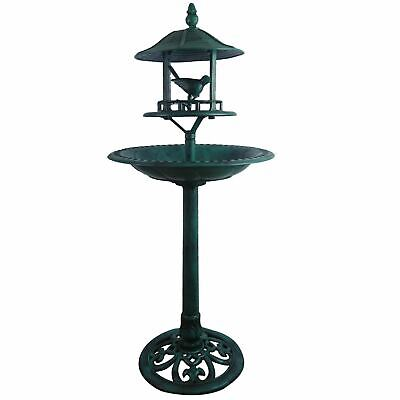 Traditional Garden Bird Bath Feeder Table Weather Resistant Modern Ornament
