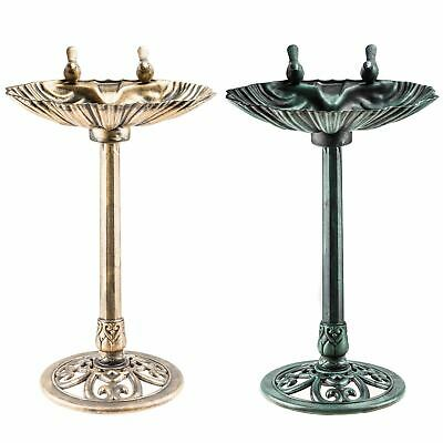 Victorian Bird Bath Pedestal Water Weather proof Table Outdoor Garden Ornament