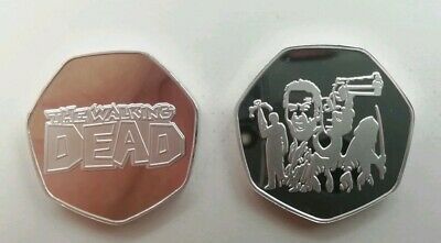THE WALKING DEAD Memorabilia Commerative Souvenir Collectors 50p Coin Capsule