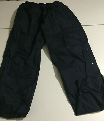 Vtg USA Olympic Track Windbreaker Pants Navy Blue Youth Large 14-16 Side Snap
