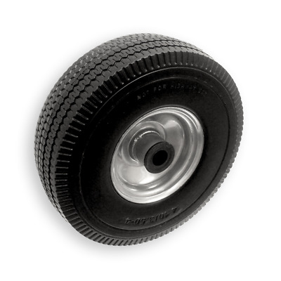 """10"""" 25cm Puncture proof foam metal trolley wheel with 20mm Bore 4.10/3.50 - 4"""
