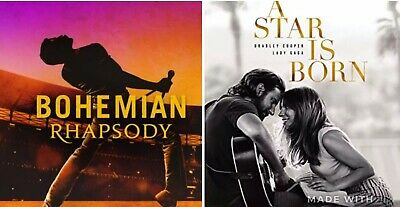 bohemian Rhapsody & A Star Is Born 100% Authentic Blu Rays *Discs Only*