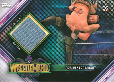 Topps WWE Champions 2019 Wrestlemania Event-Used Mat Relic Braun Strowman MR-BS