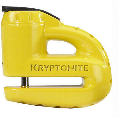 Kryptonite Motorcycle Bike Lock Keeper 5 S2 Disc Lock with Reminder Cable Yellow
