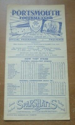 Portsmouth v Huddersfield Town, 1946/47 - Division One Match Programme.