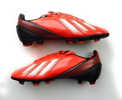 Adidas F10 TRX FG J Black Infrared Black Football Boots Soccer Cleats Red UK 3.5