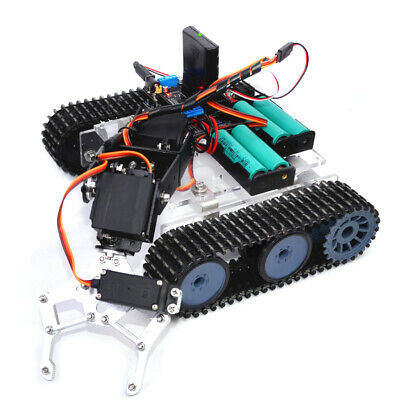 Prettyia DIY 4-Dof PS2 RC Tank Chassis Robot Mechanical Arm for Arduino Kits