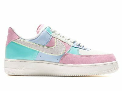 half off 00dbf 0b092 Nike Air Force 1 Low 07 QS SZ 10.5 Easter Spring Patchwork Blue Pink AH8462-