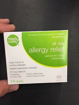 3 Allergy Relief All Day (Ready In Case) 10mg 14Tablets 24hr Relief .