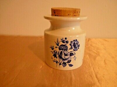 Pretty Vintage Portmeirion Pottery Harvest Blue Spice Jar - Susan Williams-Ellis