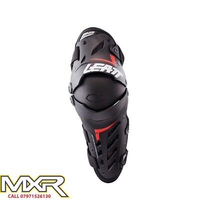 Leatt Knee Guard Dual Axis Black Red Adult Pair Sm/med Lg/xl Xxl Mx Enduro