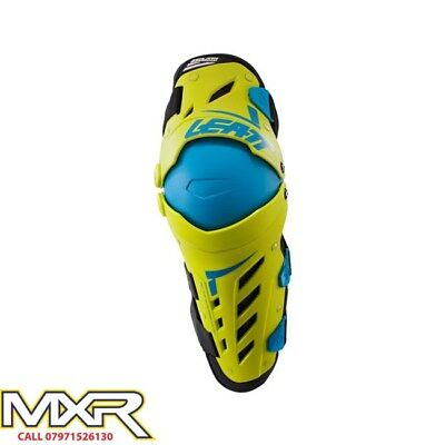 Leatt Knee Guard Dual Axis Lime Blue Adult Pair Sm/med Lg/xl Xxl Mx Enduro