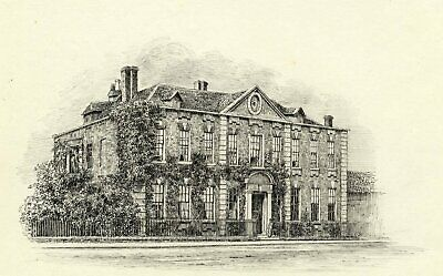 M.S. Smith, Trinity College, Stratford-upon-Avon - c.1870 pen & ink drawing