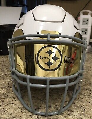 bc27be3a Steelers Gold Chrome Custom Football Helmet Visor, Laser Etched Universal  Fit