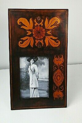 Lovely Arts & Crafts Wooden Photograph Frame, C.1900 Period Home Decor.