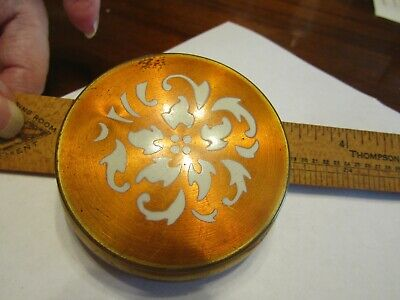 Vintage Powder Compact Gold Bronze in Color Beautiful Design